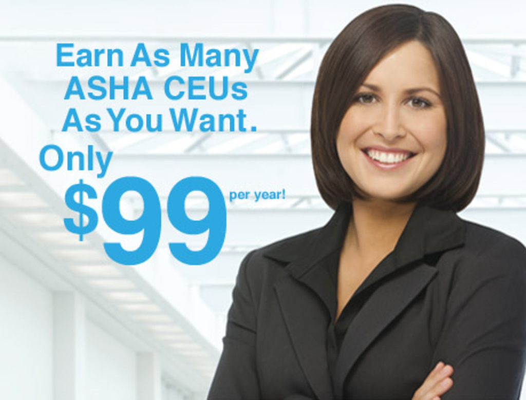 SpeechPathology.com $99/year ASHA CEUs