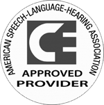 SpeechPathology.com is an approved SLP CEU provider for ASHA (Amercian Speech-Language-Hearing Association)