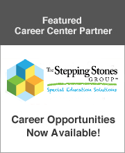 Featured speech pathology career center partner The Stepping Stones Group company logo advertising career opportunities